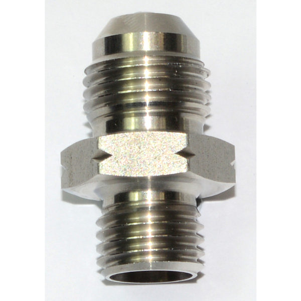 Adaptor, AN-6 Male to M12 x 1.5mm, Stainless, including aluminium sealing washer 15808