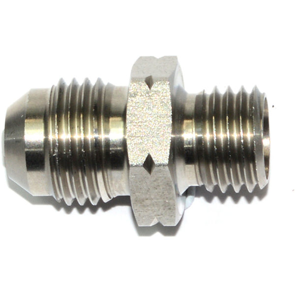 Check Valve, AN-6 Male to M12x1.5mm, Stainless Steel 15802