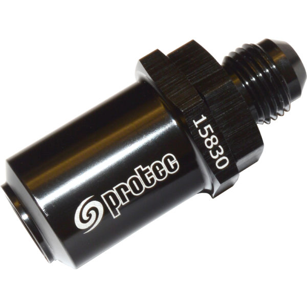 Check Valve, to Suit Std Bosch pump. AN-6 Male, Black 15830