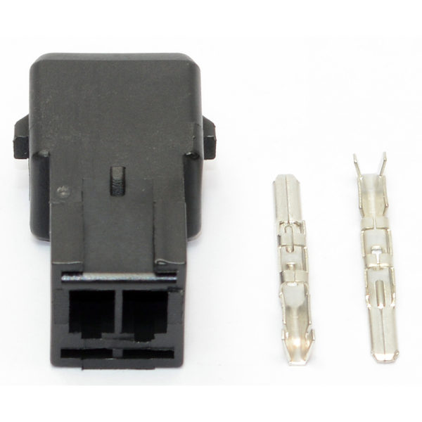 Electrical Connector, Junior Timer 2 Pin Connector, Male, Including Terminals, (KV Type) 16406