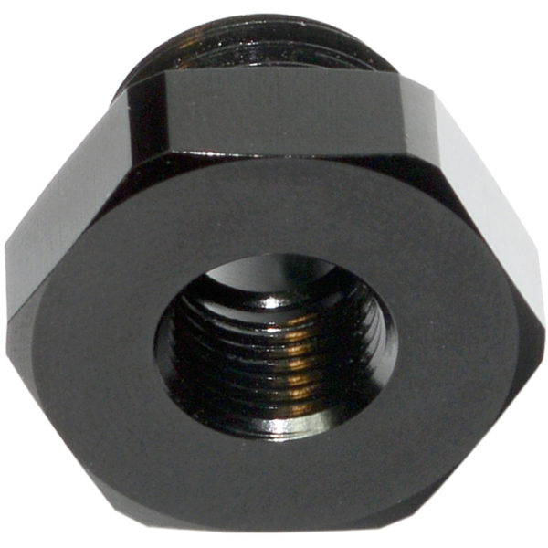 Port Plug, AN-6 ORB, Hex Head With 1 8 NPT Port, Including Viton O Ring, Black - 15897