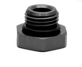 Port Plug, AN-8 ORB, Hex Head, Including Viton O Ring, Black - 15894